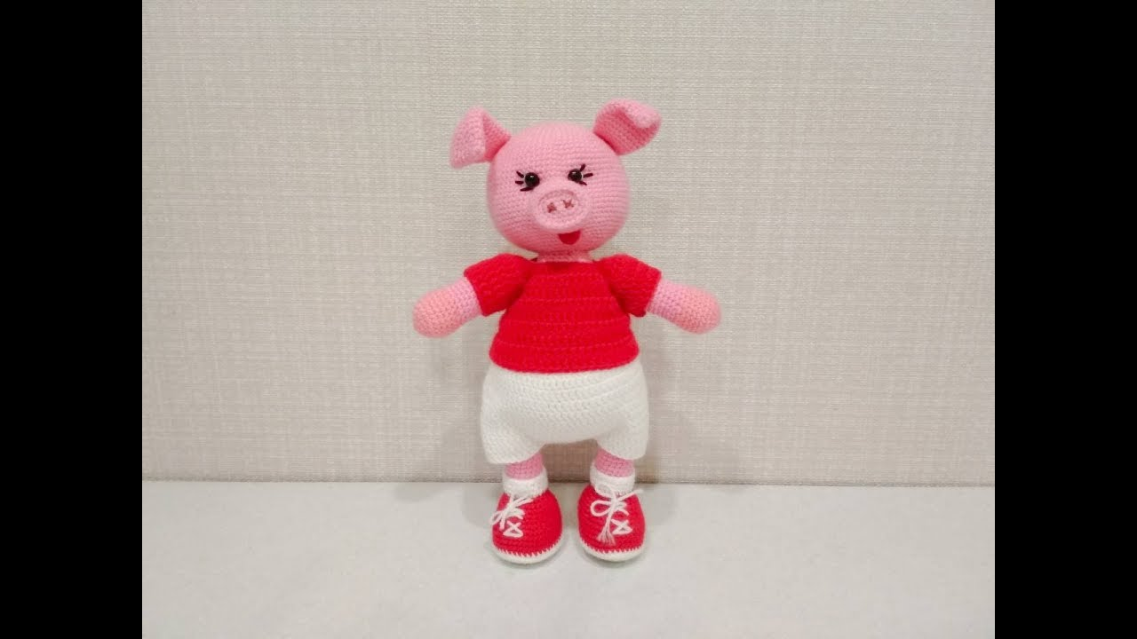игрушка амигуруми поросенок хрюшка крючком сrochet Piggy Youtube