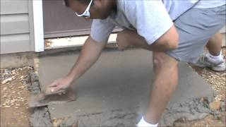 How to pour a concrete slab  Click link to order the tools