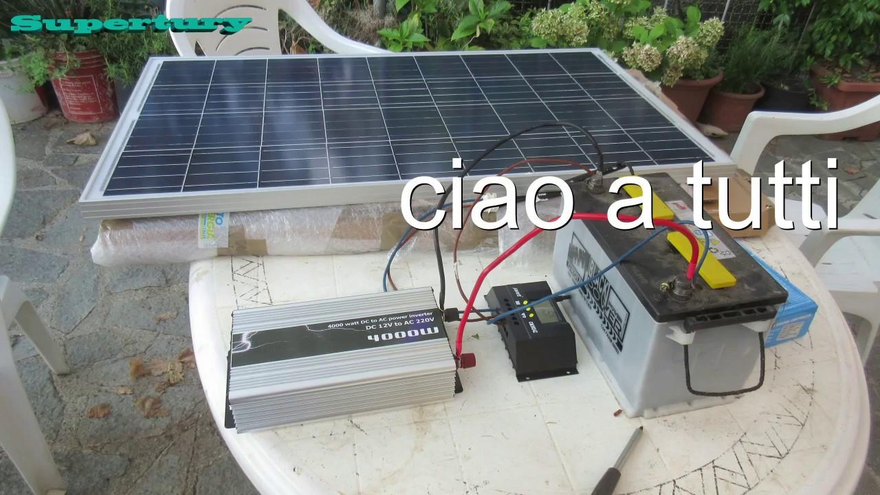 Impianto fotovoltaico 12v 220v economico fai da te youtube - Pannelli decorativi fai da te ...
