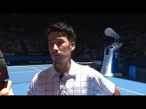 Yuichi Sugita on-court interview (RR) | Mastercard Hopman Cup 2018