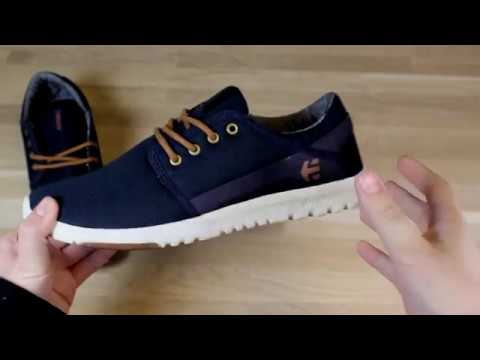 Etnies Scout Trainers in Navy/Gold