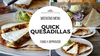 Easy QUICK QUESADILLAS Recipe