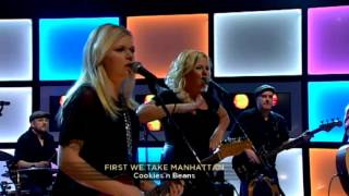 Cookies n Beans - First we take Manhattan (Live @ Nyhetsmorgon)