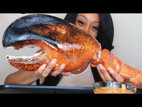 giant-lobster-claw-&-cheese-sauce-mukbang!!!
