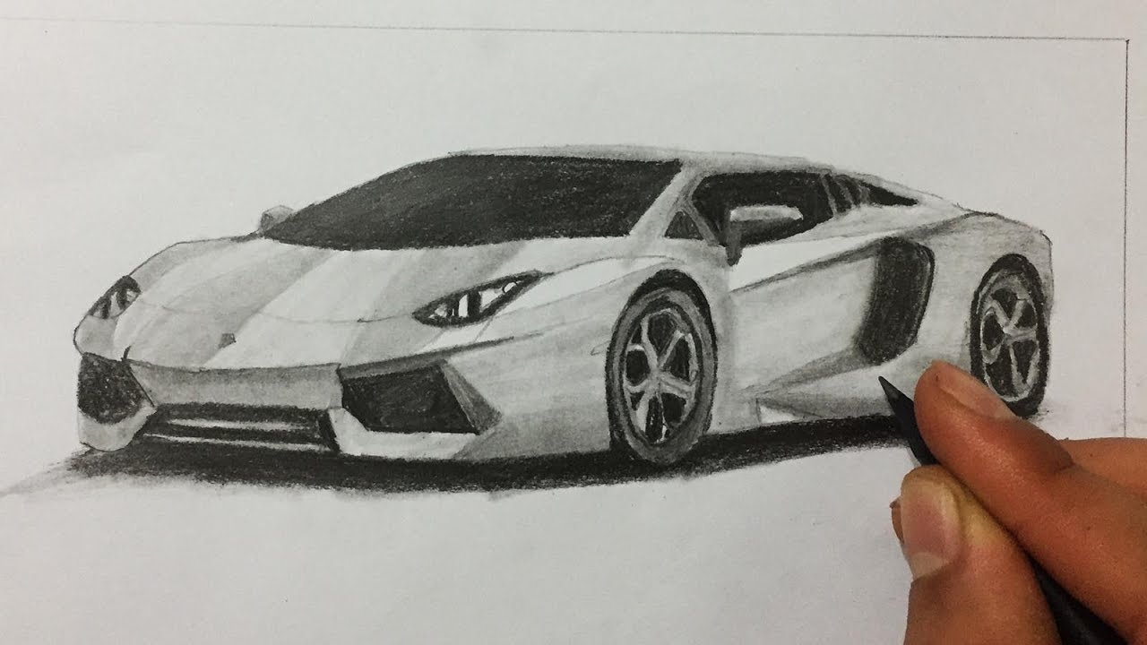 Lamborghini Aventador Cizimi Araba Cizimi Youtube