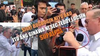 TEDDY LOCSIN Pinagsupalpal ang nagPROTESTA kay Pangulong Duterte
