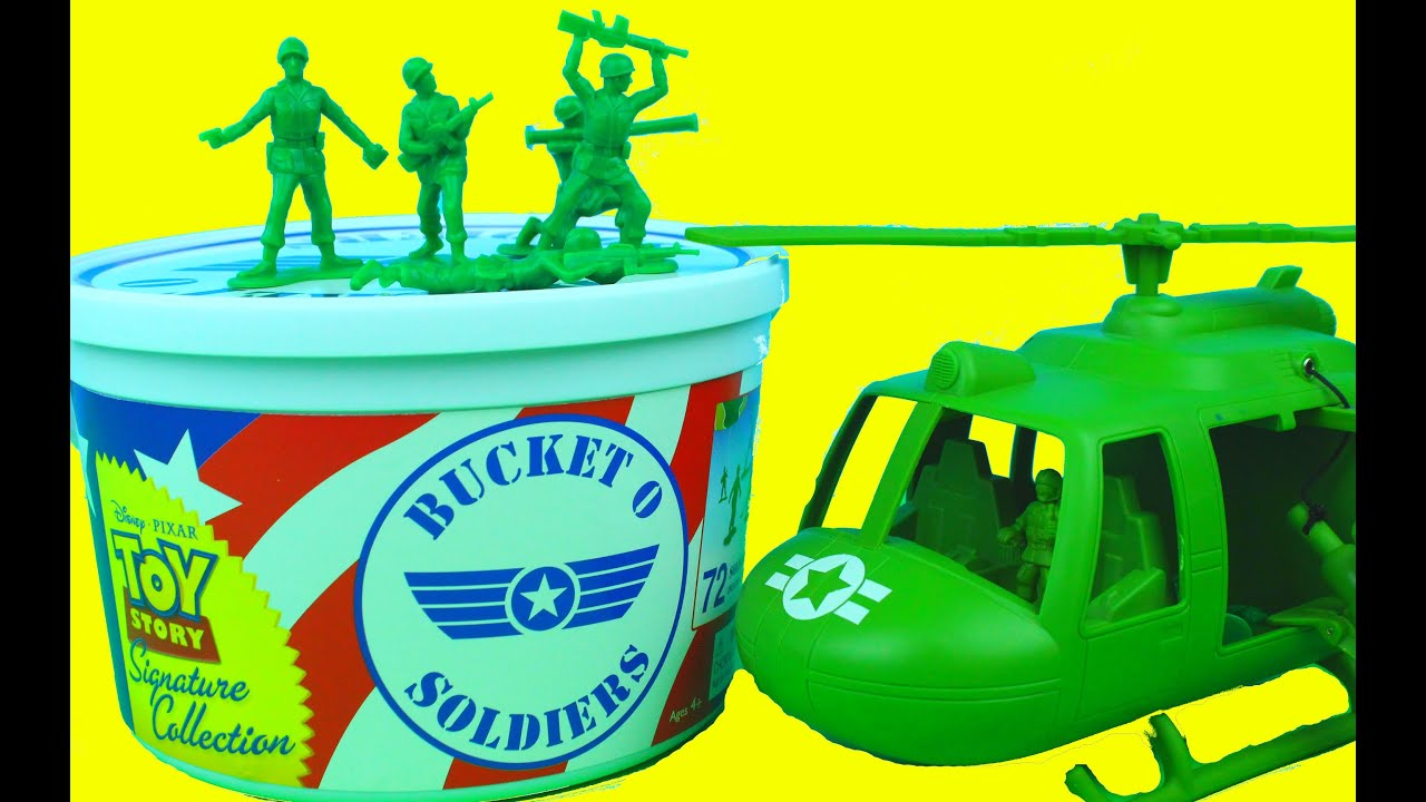90 Piece Set NEW Official Disney Toy Story Green Army Men Bucket O /'Soldiers