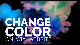 Changing Colors on Wix Website | Feature 1