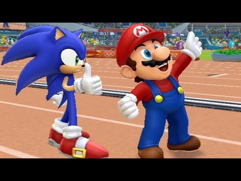 Mario & Sonic At The London 2012 Olympic Games - Long Jump (All Characters)