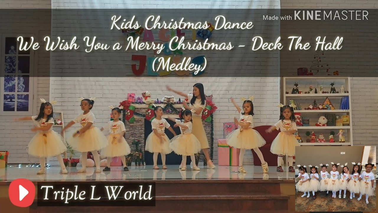 Kids Dance Song - We Wish You a Merry Christmas & Deck The Halls (Medley)   Livienne and Friends ...