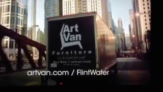 Art Van Flint water Super Bowl 50 commercial