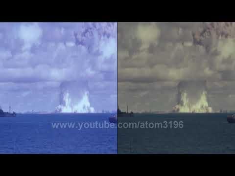 HD Nuclear testing old film Digital Remaster sample clip