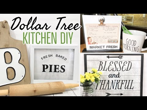 FARMHOUSE KITCHEN DECOR | DOLLAR TREE DIY