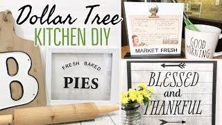 FARMHOUSE KITCHEN DECOR | DOLLAR TREE DIY