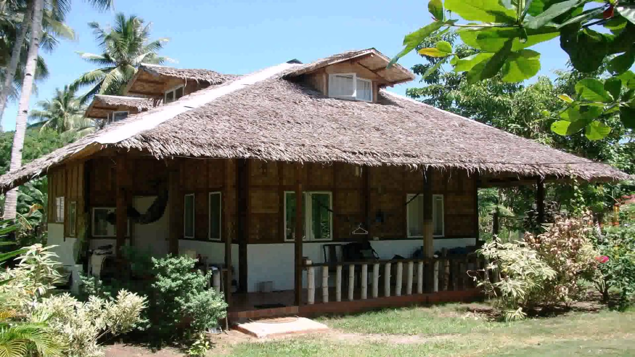 Nipa hut house design in the philippines youtube for Home design ideas native