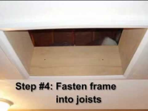 hatch attic access door energy installation latch cover