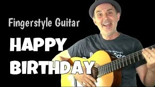 Play Happy Birthday Fingerstyle Guitar Fingerpicking Guitar Lesson