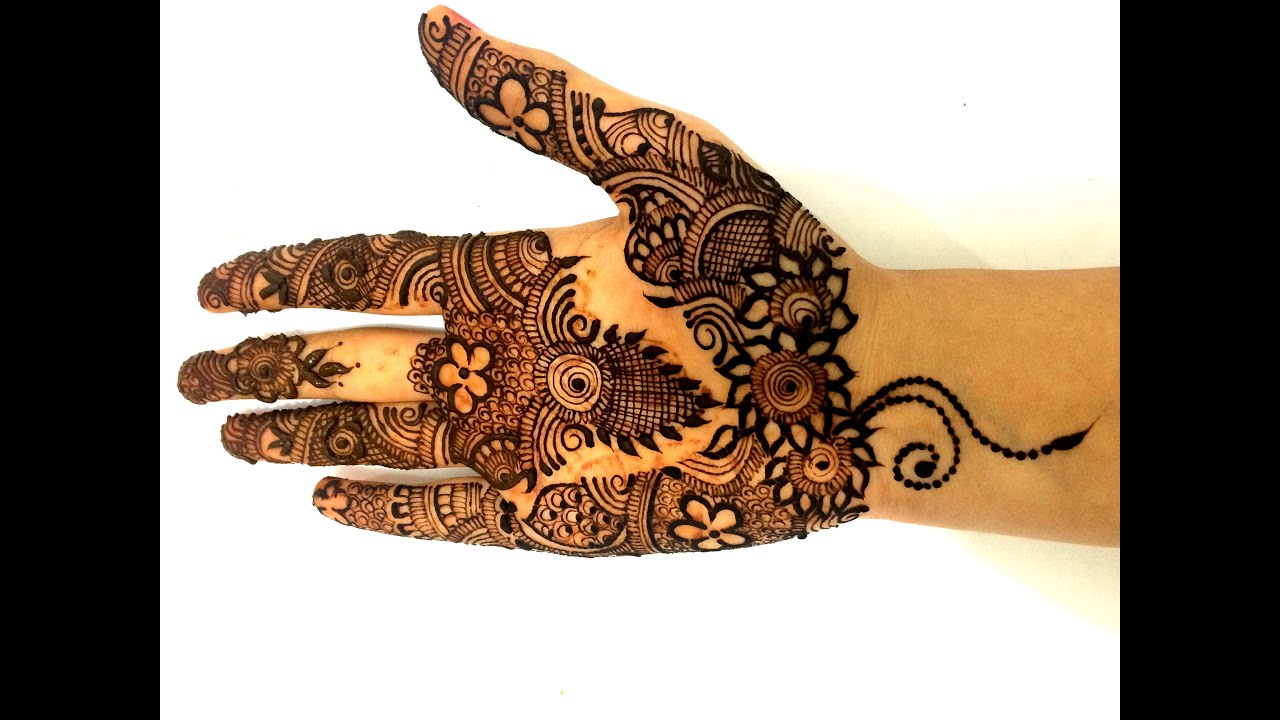 Designs Of Mehndi For Palm : Latest henna mehndi designs for hands full palm floral mehendi