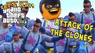 Annoying Orange Plays - GTA V: Attack Of the Clones