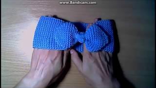 Повязка на голову спицами-учимся вязать головные уборы-просто и быстро