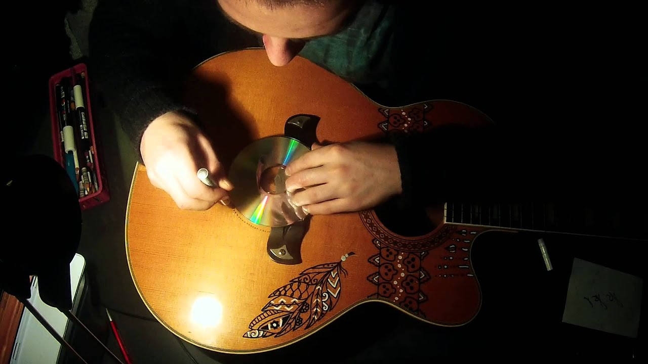 decorating my guitar with loop control youtube for musicians