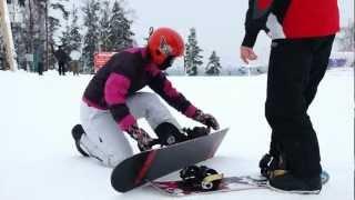 Как начать кататься на сноуборде. Занятие