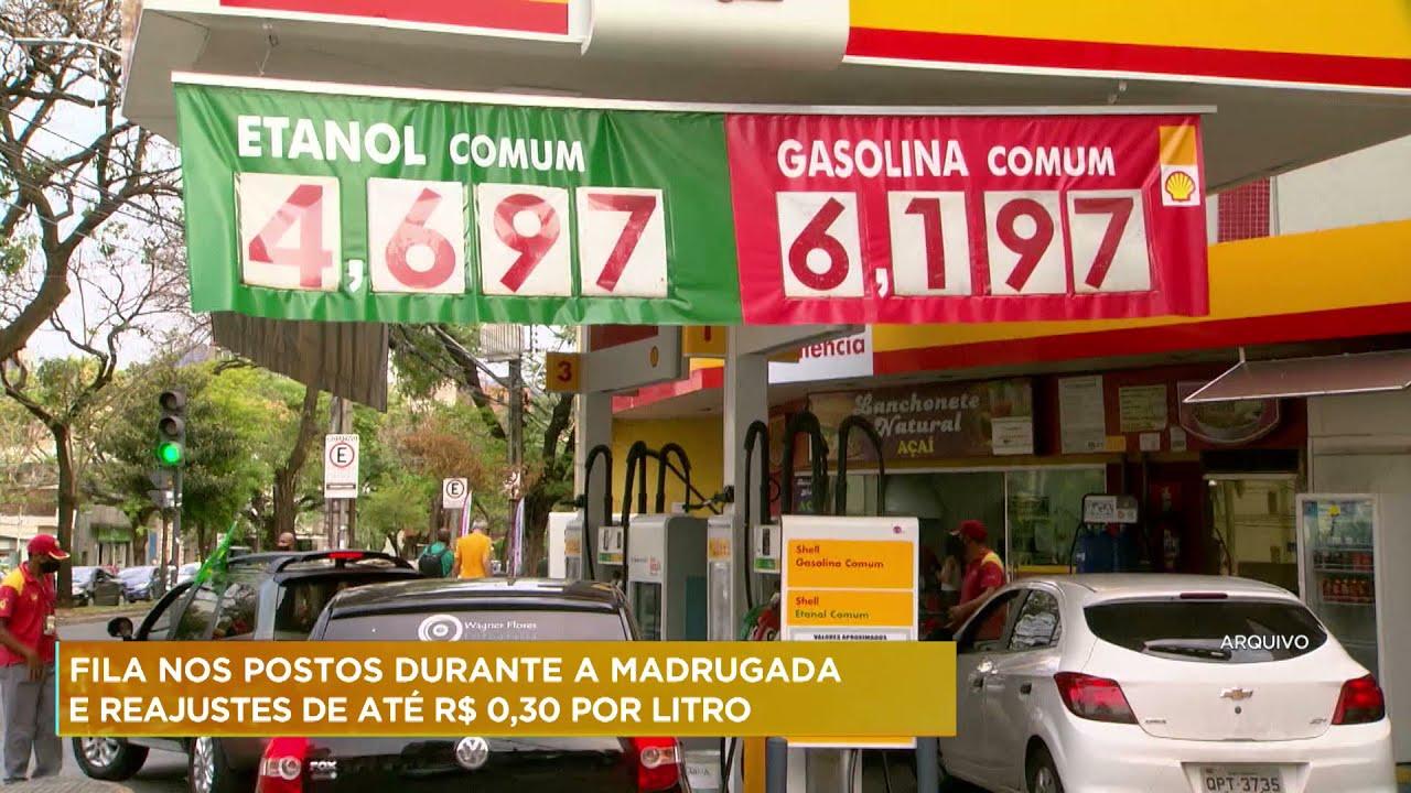 Belo Horizonte tem fila em postos durante a madrugada