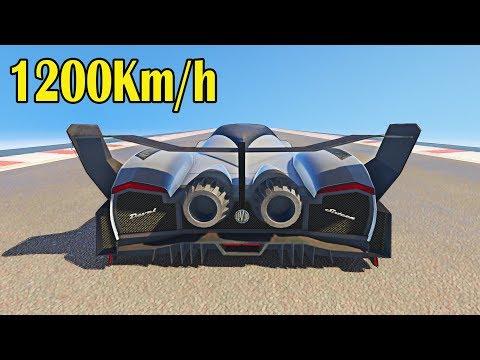 1200km/h Atingindo a VELOCIDADE DO SOM com um carro? (GTA 5 Devel Sixteen)