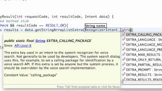 Android Application Development Tutorial   186   Voice Recognition Result