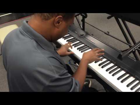 kris nicholson test driving a yamaha p 45b vs casio px 160 digital pianos at sam ash youtube. Black Bedroom Furniture Sets. Home Design Ideas