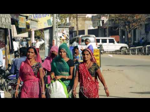 Indian Village(Town).Khari Road, Bhinmal Video.भीनमाल,खारी रोड.Rajasthani Woman.Villages,India