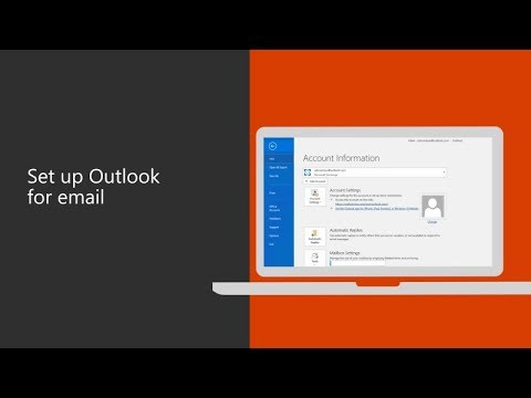 Set Up Microsoft Outlook 2016 For Your Business Email Youtube
