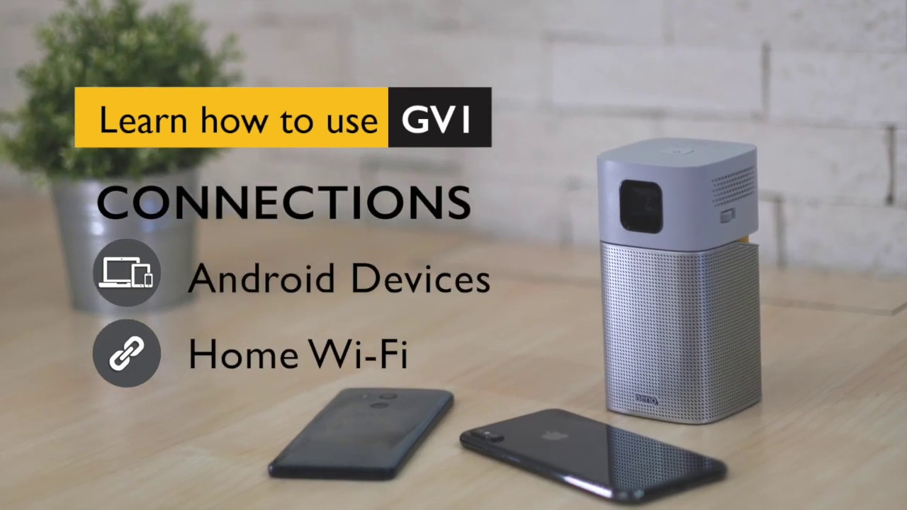 Android 手機如何與微型投影機 GV1 無線投影│BenQ 投影機 - YouTube