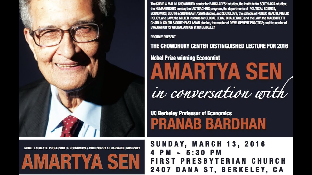 indian economist and philosopher amartya sen view Amartya sen, keynote speaker: the conference's keynote speaker is amartya sen, winner of the 1998 nobel prize in economics he has served as president of the econometric society, the indian economic association, the american economic association and the international economic association.