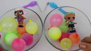 LOL Bebekler Mini Balon Slime Challenge | Sürpriz Pofuduk Slime DIY Minyatür Balon | Bidünya Oyuncak