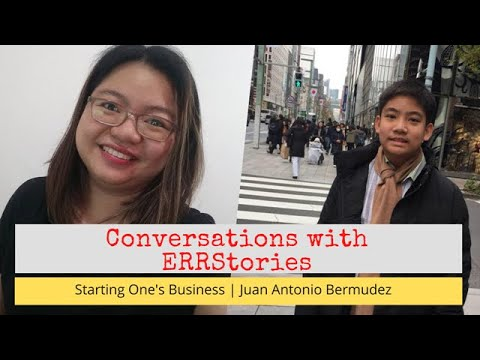 Conversations with ERRstories | 13-Year-old Anton Bermudez Talks about Business, Love for Arts