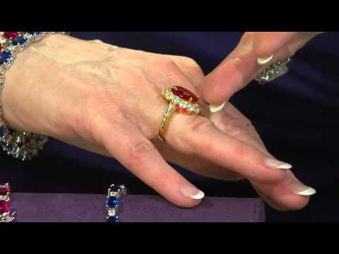 "The Elizabeth Taylor 5.05cttw ""The Perfect"" Simulated Ruby Ring with Mary Beth Roe"