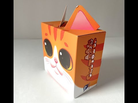 Cat Tower Fast-Paced Competitive Stacking Game Board Game Renegade Studios