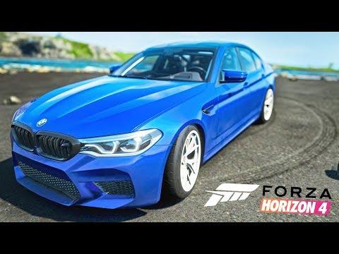 ТАЧКА НА ПРОКАЧКУ. BMW M5 F90 ПОД ДРИФТ в Forza Horizon 4