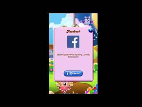 How to connect Candy crush with facebook