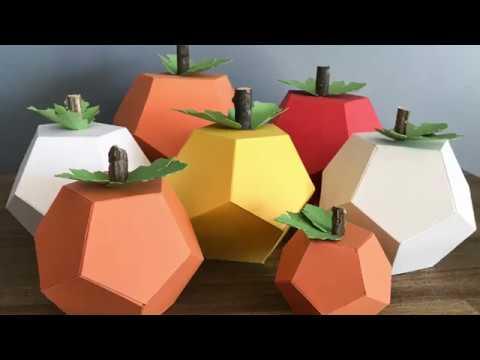 DIY Geometric Paper Pumpkins