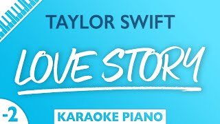 Taylor Swift - Love Story (Karaoke Piano) Lower Key
