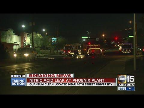 Nitric acid leak at Phoenix plant