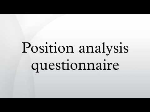 position analysis questionnaire youtube