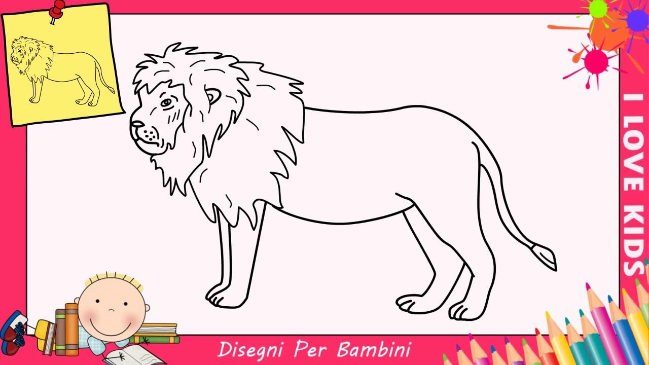 Disegni di leoni facili per bambini come disegnare un for Immagini di disegni facili