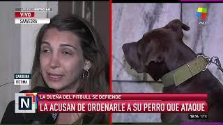 Duro cruce entre la dueña del Pitbull que atacó al perro de una vecina en Saavedra