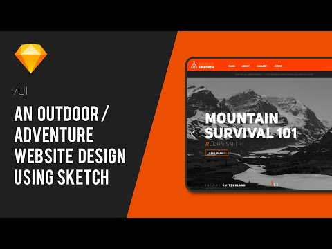 Web UI for WanderUpNorth | Sketch Speed Tutorial thumbnail