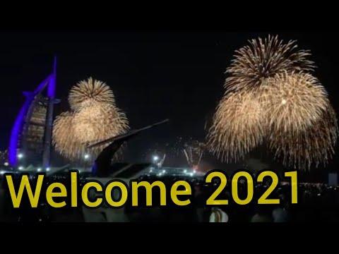 2021 new year spl fireworks @ Burj Al Arab,Dubai