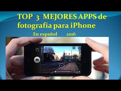 🔝 TOP  3  MEJORES APPS de fotografía para iPhone | En español 2016