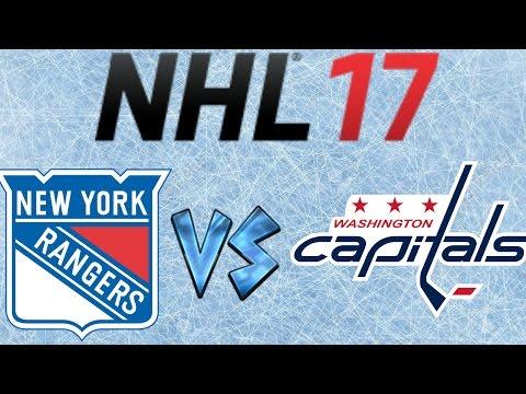 NHL 17 New York Rangers Vs Washington Capitals  (Full Game)